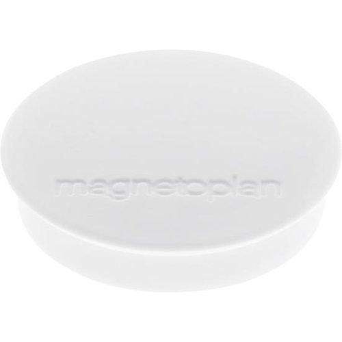 magnetoplan Magnet D30mm VE10 Haftkraft 700 g weiss
