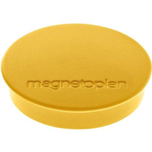 magnetoplan Magnet D30mm VE10 Haftkraft 700 g gelb