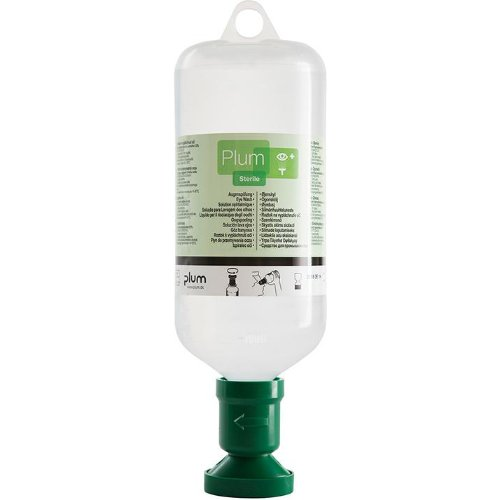 Plum Augenspülflasche, gef., 1000 ml, m. Staubkappe