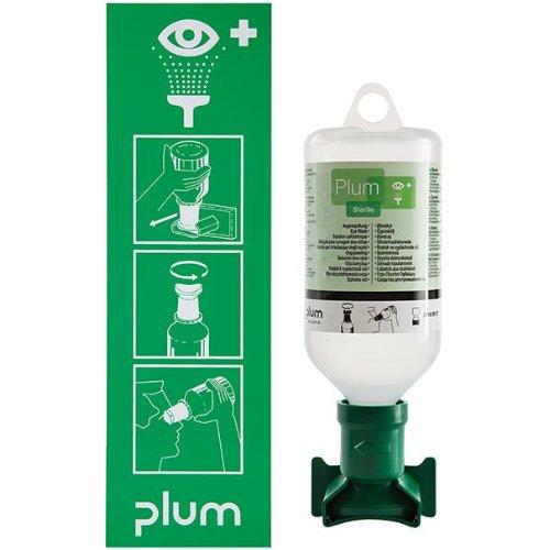 Plum Augenspülstation, inkl. Fl., 500 ml u. Wandhalter