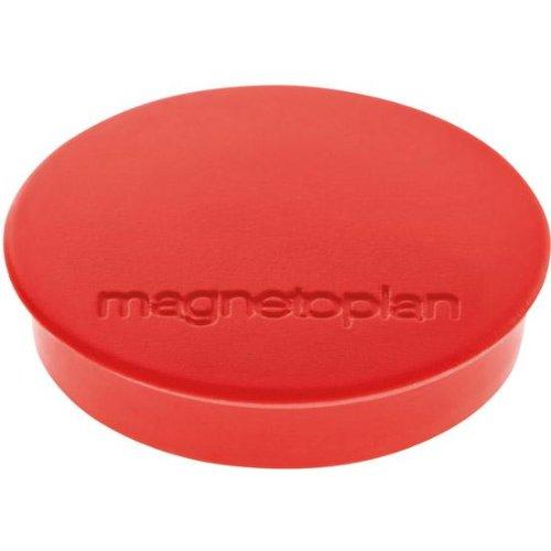 magnetoplan Magnet D30mm VE10 Haftkraft 700 g rot