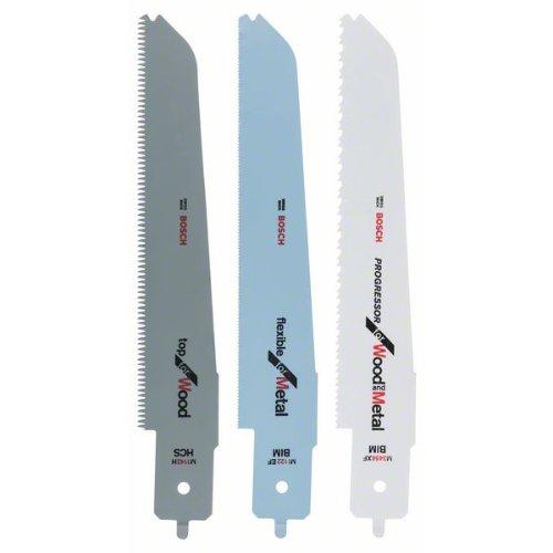 Stichsägeblatt-Set für Bosch-Multisäge, 3-teilig, für PFZ 500 E