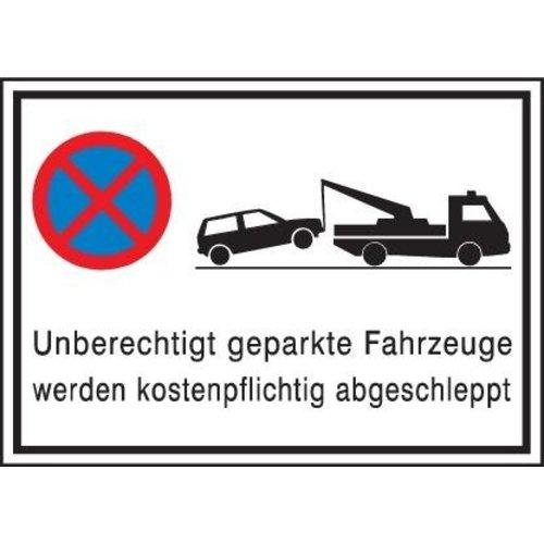 Parkverbotschild Alu 600X400 mm, Abschl