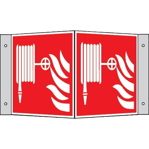 Brandschutzschild Alu Löschschl. Wi.200x200mm