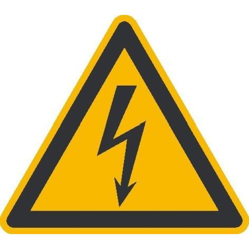 Warnschild Alu 200 mm elektrische Spannung