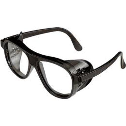 Mehrzweckschutzbrille 870PC farblos, Rahmen schw.