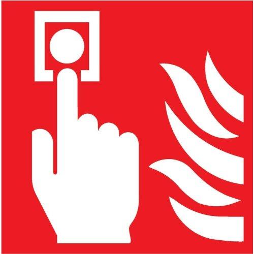 Brandschutzschild Folie Brandmeld. 150x150mm