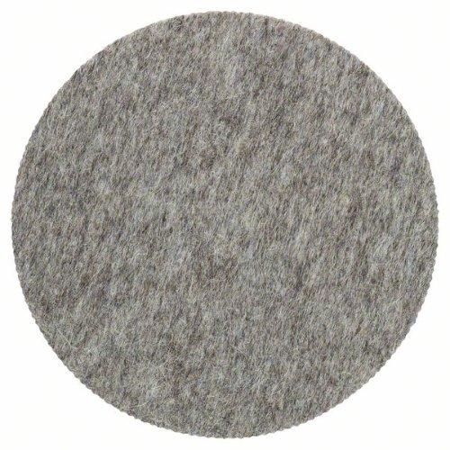Polierfilz für Exzenterschleifer, hart, Klett, 128 mm, 5er-Pack