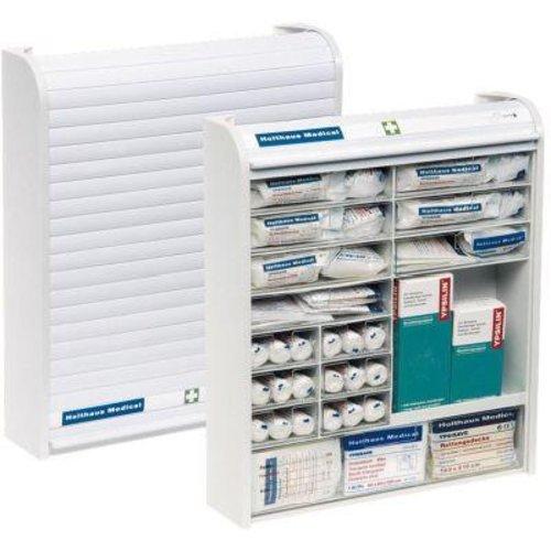 Holthaus Medical Verbandschrank Rollmed mit Rollo gefüllt DIN 13157