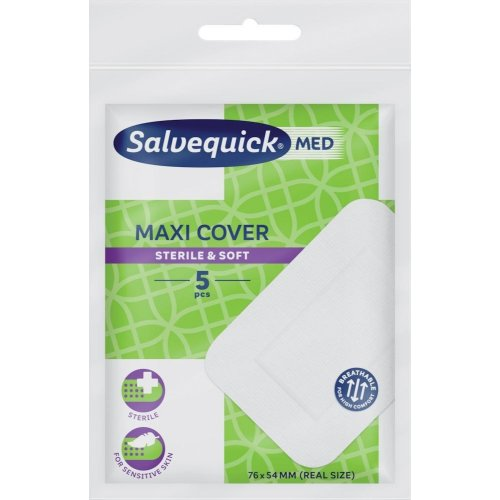 Cederroth Salvequick Maxi-Pflaster 76x54mm, 5 Stck.