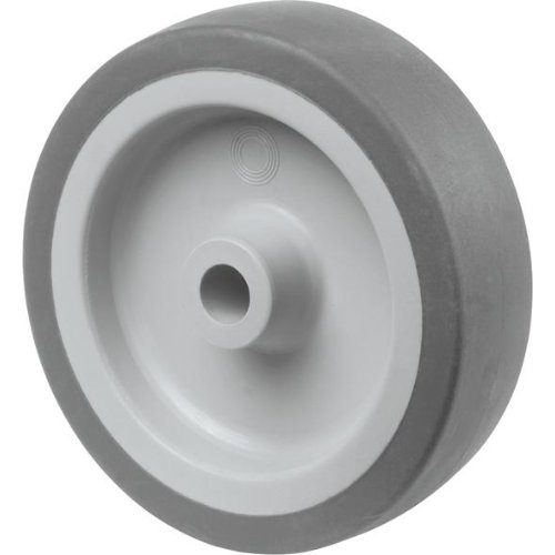 Gummirad 75mm grau Gleitlager