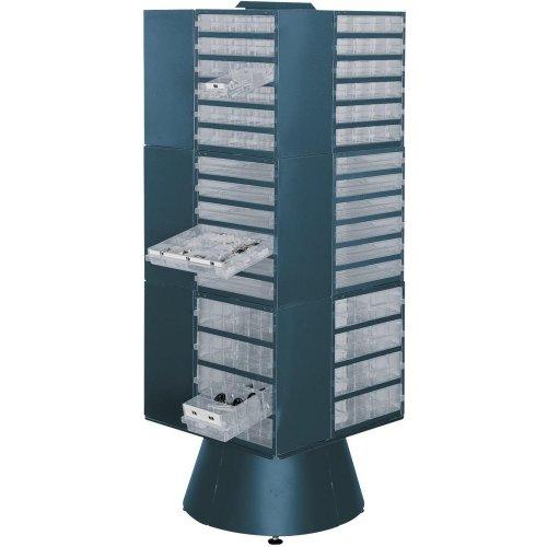 raaco Drehständer leer 1600 mm hoch blau