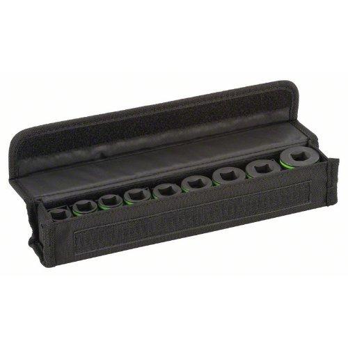 Steckschlüsseleinsätze-Set, 9-teilig, L 38 mm, SW 10 - SW 27