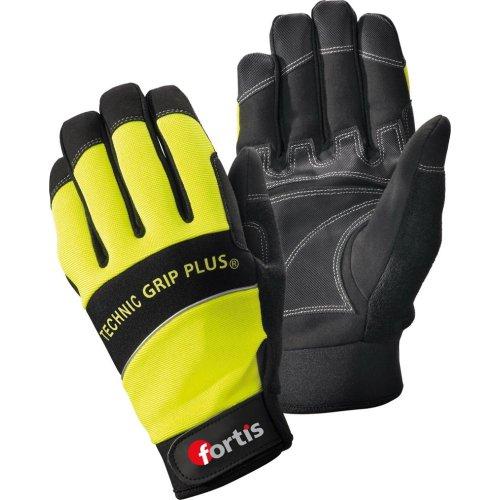 Fortis Handschuh Technic Grip +,Gr.8,gelb/schw.,