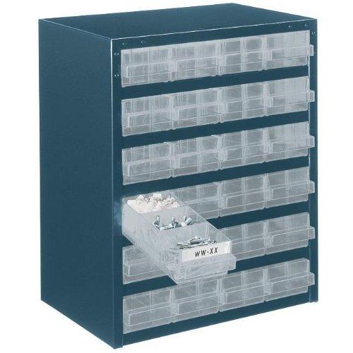 raaco Schubla.-Magazin 250/24-124 Schubladen blau