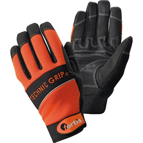 Fortis Handschuh TechnicGrip,Gr.10,orange/schwarz,
