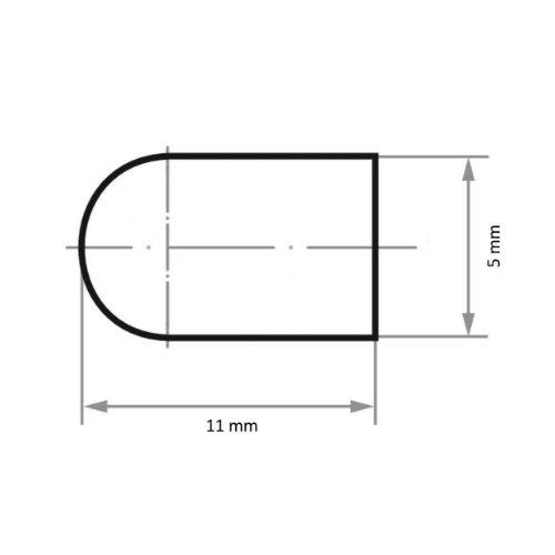 100 Stk | Schleifkappe SKWRS Walzenrundform universal 5x11 mm Spezialkorund Korn 320 Abb. Ähnlich