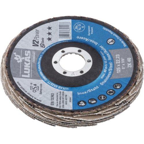 10 Stk | Fächerschleifscheibe V2 Power universal Ø 100 mm Zirkonkorund Korn 40 | flach Produktbild