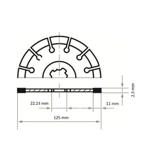 10 Stk   Diamanttrennscheibe LD3 S10 für Stein/Beton/Asphalt Ø 125 mm für X-LOCK Winkelschleifer Abb. Ähnlich