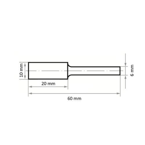 1 Stk | Fräser HFA Zylinderform für harte Werkstoffe 10x20 mm Schaft 6 mm | Verz. 4 Abb. Ähnlich