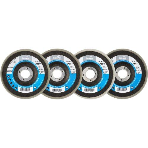 1 Stk   Polierteller-Set P6PT Ø 125 mm 4-teilig für Winkelschleifer schräg Artikelhauptbild