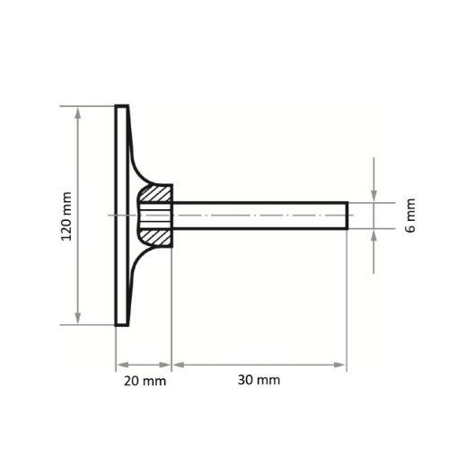 2 Stk | Werkzeugaufnahme GTH für Schleifblätter Ø 120 mm Schaft 6 mm Abb. Ähnlich