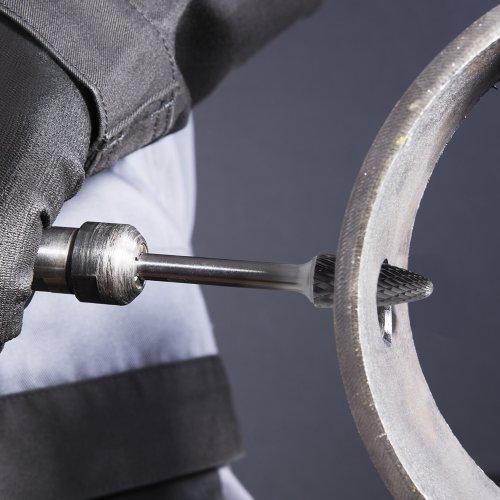 1 Stk | Fräser HFF Rundbogenform universal 12x25 mm Schaft 6 mm langer Schaft Schaltbild