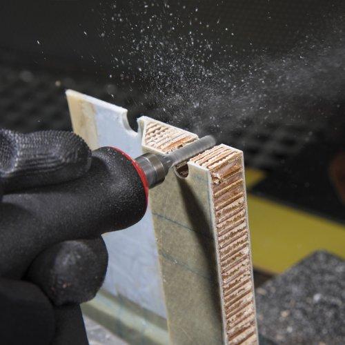 1 Stk | Fräser HFAS Zylinderform für Kunststoff 8x28 mm Schaft 8 mm Stirnverzahnung Grob Schaltbild