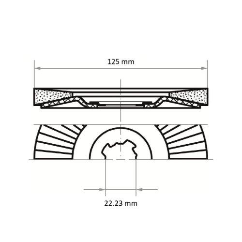 10 Stk | Fächerschleifscheibe V2 POWER Ø 125 mm Zirkonkorund Korn 60 | für X-Lock Winkelschleifer | flach Abb. Ähnlich
