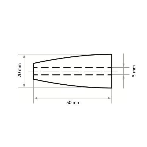 50 Stk | Schleifhülse SRKE 20x50 mm Korund Korn 50 Abb. Ähnlich