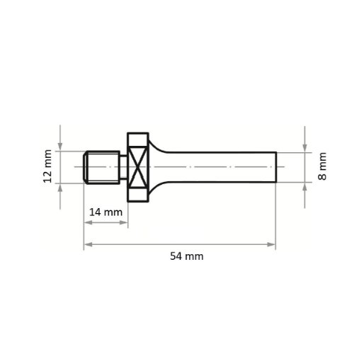 5 Stk   Werkzeugaufnahme ASB für Werkzeuge mit Innengew. M12 Schaft 8 mm Abb. Ähnlich