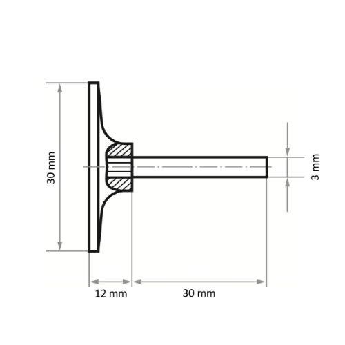 5 Stk | Werkzeugaufnahme GTK für Schleifblätter Ø 30 mm Schaft 3 mm Abb. Ähnlich