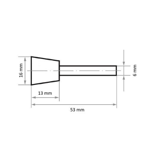 1 Stk | Fräser HFNS Sonderform für harte Werkstoffe 16x13 mm Schaft 6 mm | Verz. 4 Abb. Ähnlich