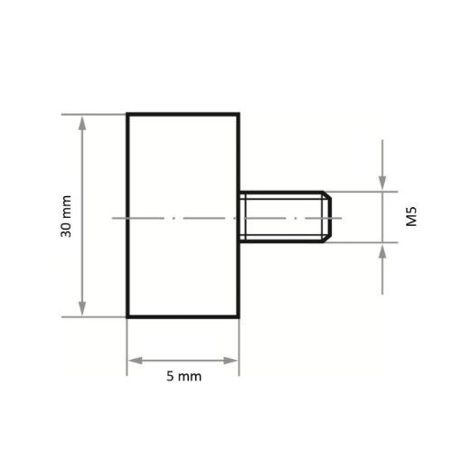 10 Stk | Fächerschleifer SFA universal 30x5 M5 mm Korund Korn 150 Abb. Ähnlich