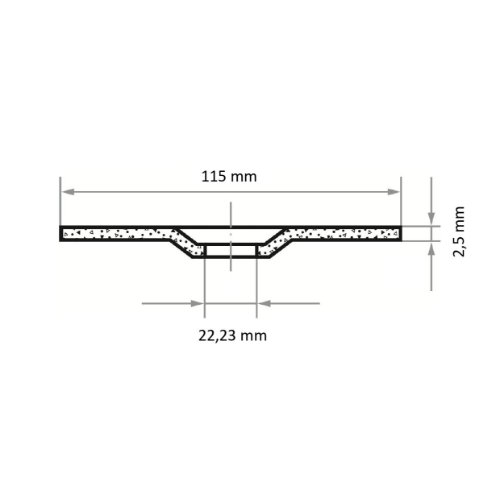 25 Stk | Trennscheibe T42 für Stein 115x2.5 mm gekröpft | für Winkelschleifer | C24S-BF Abb. Ähnlich