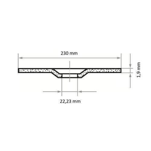 1 Stk | Trennscheibe T42 für Edelstahl 230x1.9 mm gekröpft | für Winkelschleifer | A46T-BF Abb. Ähnlich