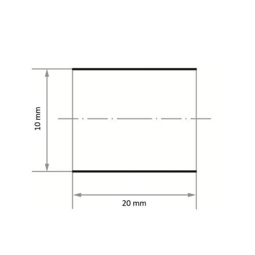 50 Stk | Schleifhülse SBZY universal 10x20 mm Korund Korn 80 Maßzeichnung