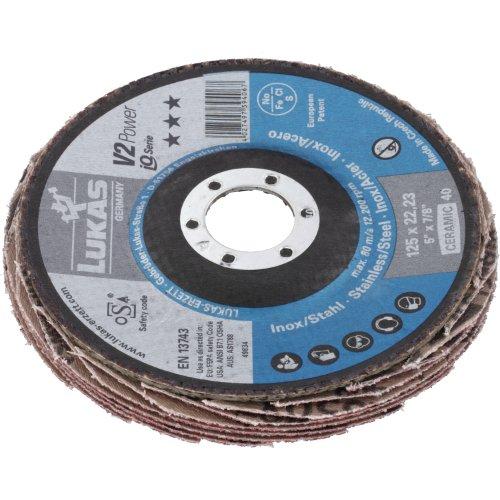 10 Stk | Fächerschleifscheibe V2 Power universal Ø 178 mm Ceramic Korn 60 | flach Produktbild