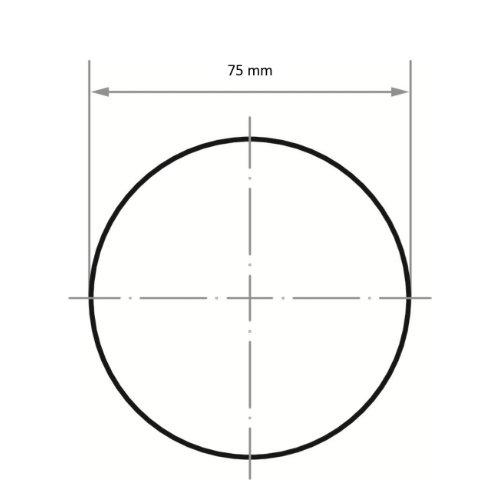 25 Stk | Schleifblätter PSG universal Ø 75 mm | Vlies Korund Korn 100 Abb. Ähnlich