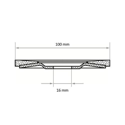 10 Stk | Fächerschleifscheibe V2 Power universal Ø 100 mm Zirkonkorund Korn 40 | flach Abb. Ähnlich