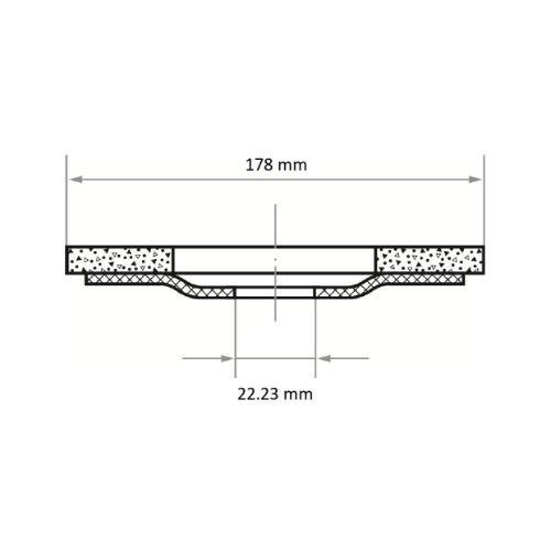 10 Stk | Fächerschleifscheibe SLTO universal Ø 178 mm Zirkonkorund Korn 40 |gerade Abb. Ähnlich