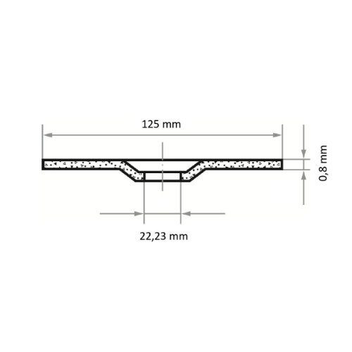 1 Stk   Trennscheibe T42 für Edelstahl 125x0.8 mm gekröpft   für Winkelschleifer   A60Z-BF Abb. Ähnlich