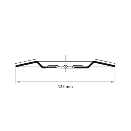 1 Stk | Hartmetall-Granulat-Teller HGWT Ø125 mm | gerade Abb. Ähnlich