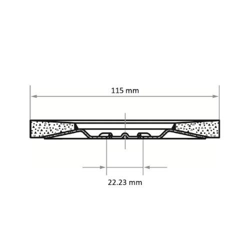 10 Stk | Fächerschleifscheibe SLTT HybridPerfection Ø 115 mm Ceramic4x Korn 60 | flach Abb. Ähnlich