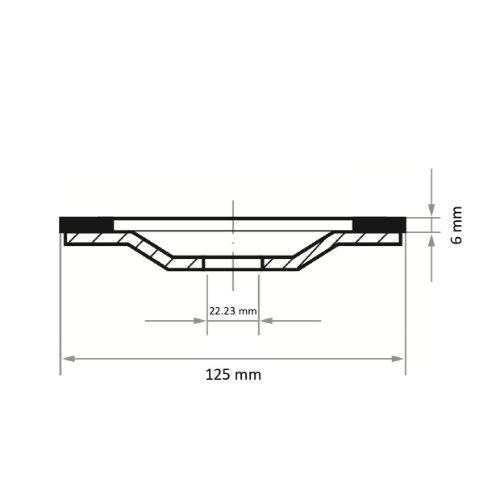 1 Stk | Diamantschleiftopf DST S6 universal Ø 125 mm für Winkelschleifer Abb. Ähnlich