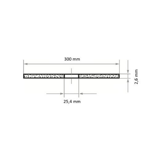 10 Stk | Trennscheibe T41 für Stahl 300x2.6 mm gerade | für Trennvorrichtung | A36S-BF Abb. Ähnlich
