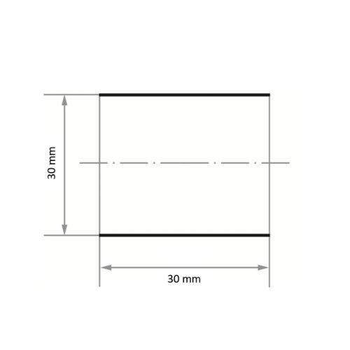 50 Stk | Schleifhülse SBZY universal 30x30 mm Korund Korn 60 Maßzeichnung