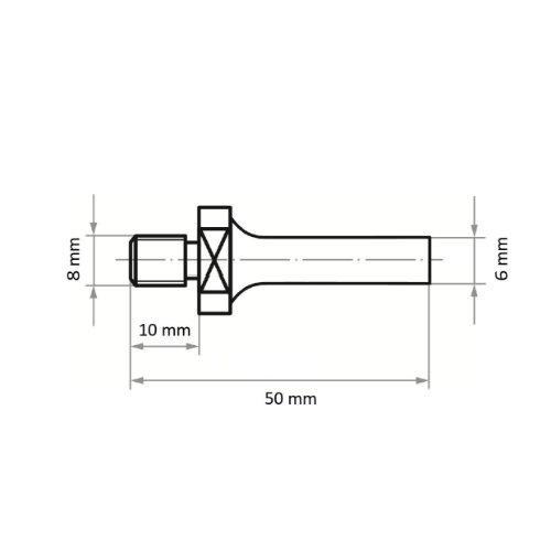 5 Stk | Werkzeugaufnahme ASB für Werkzeuge mit Innengew. M8 Schaft 6 mm Abb. Ähnlich