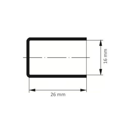 100 Stk   Schleifkappe SKZYS Zylinderform universal 16x26 mm Spezialkorund Korn 80 Maßzeichnung