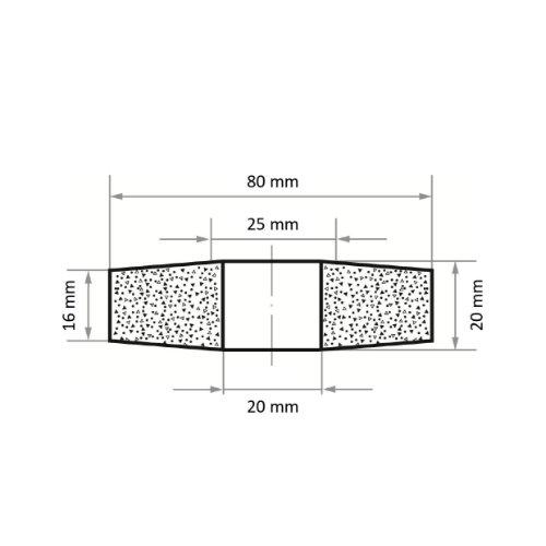 10 Stk | Schleifscheibe SE4 Scheibe für Guss 80x20 mm Bohrung 20 mm Korn 16 Abb. Ähnlich